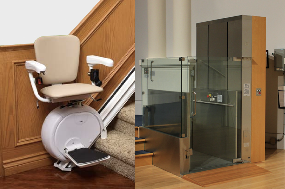 Residential chairlifts and stairlifts
